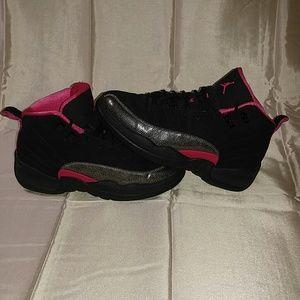 05b6d649b7794d Jordan Shoes - Air Jordan 12 Retro GP  Rush Pink  Youth Sneakers